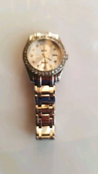round gold-colored analog watch with link bracelet San Jose, 95112