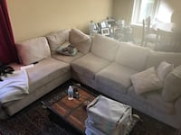 Beige sectional couch  Toronto, M1J 2L1