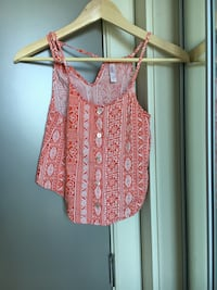 women's pink and white floral sleeveless top Calgary, T2G 0R5