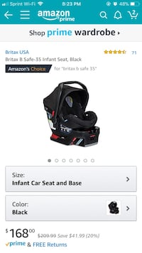Black and red graco car seat carrier screenshot Dearborn