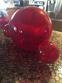 Mickey Mouse head-shaped red balloon