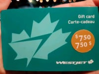 750 West jet gift card for 600 Toronto, M2J 4W6