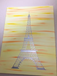 Original Eiffel Tower in Paris canvas painting