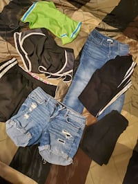 Shorts and pants most around size 12 girls