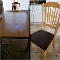 Wood Kitchen Table with 6 Chairs Peoria