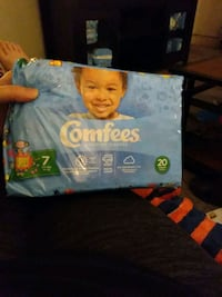 Size seven diapers comfees  premium diapers Columbia, 17512