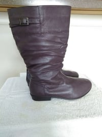 Women's  brown leather boots Rome
