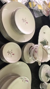 dish set 8 plates, bowls, cups, and platter Bristow, 20136