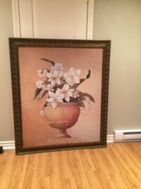 two brown wooden framed painting of flowers Laval, H7W 0G2