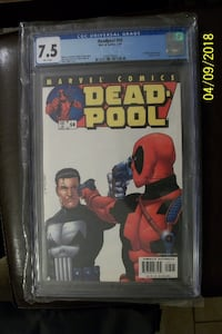 Deadpool #54 CGC 7.5, Punisher appearance and Copycat cameo