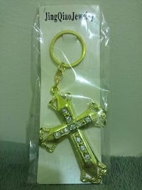 *NEW GOLD CROSS KEY CHAIN Hagerstown, 21742