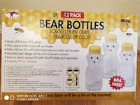 Honey Bear Clear Plastic Bottles - pack of 9 Silver Spring