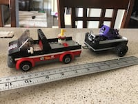 LEGO truck trailer and motorcycle  Missing truck roof Courtice, L1E 0H5
