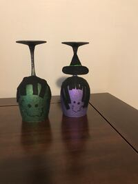 Halloween decorated wine glasses  Fishers, 46038