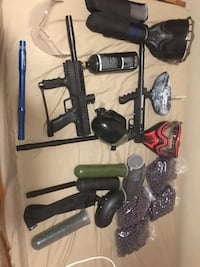 Black and gray paintball gun set $250 Ingersoll, N5C 3E3