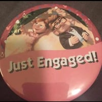 Custom just engaged buttons Disney Up Goffstown, 03102