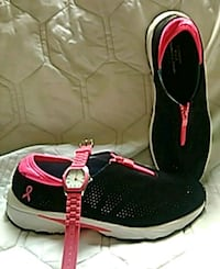 Womens memory foam sneakers size 10 and watch Canton, 44708