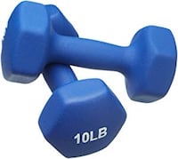 Neoprene Dumbbells 10 Pound, set of 2, navy blue Vaughan, L4L 3V4
