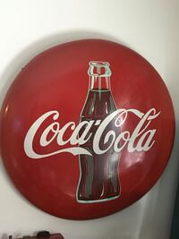 red and white Coca-Cola ceramic plate Toronto, M4G 3C1