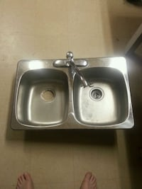 stainless steel sink with faucet 50$obo.  Medicine Hat, T1A