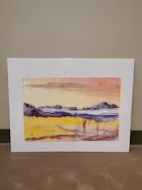 NEW!! WATERCOLOR; + BLACK FRAME w/glass & matting - firm prices. Arlington, 22204