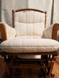 Solid oak Rocking chair, with washable cushions Groveton, 22307