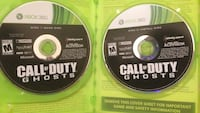 Two call of duty ghost xbox 360 game discs Stover, 65078