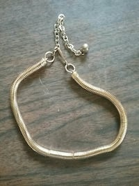 silver link necklace with bell Long Bottom, 45743