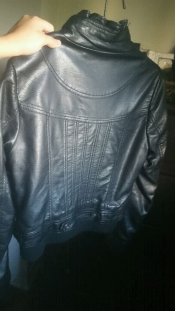 GUESS Faux Leather Jacket 2