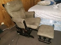 two brown wooden framed gray padded armchairs Ferguson, 63135