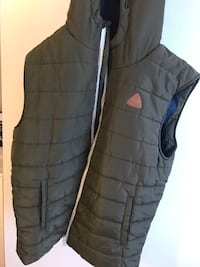 svart zip-up boble vest Oslo, 0988
