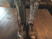 Pair of black leather cowboy boots West Lake Hills, 78746