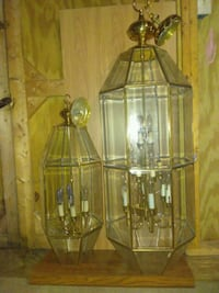 (2) BRASS CANDEILIERS FOR A FOYER Charleston, 29414