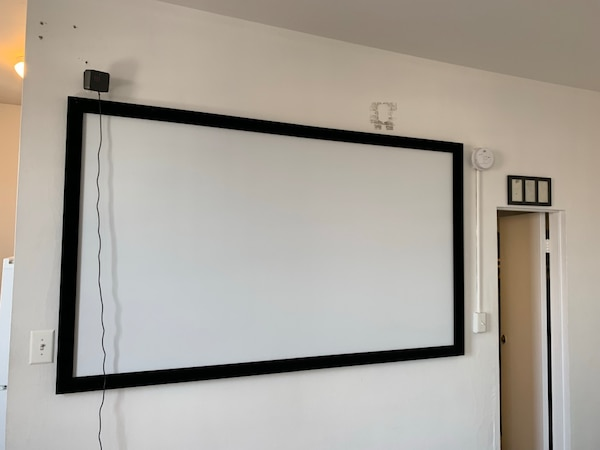 "Like-new 92"" Projector screen"