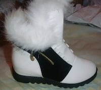 White and black side  boots