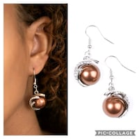 What you see is what you get brown earrings  Gaithersburg
