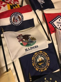 Patriotic Vintage  State and World Flags +