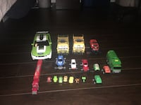 Various cars and trucks