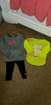 12month girl's nike dri fit outfit and shirt Philadelphia, 19154