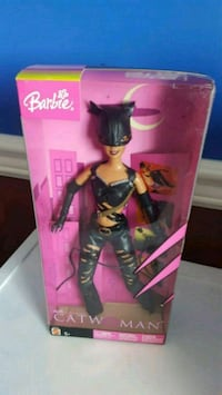 Barbie doll in black and pink dress Calgary, T2Z 3Y5