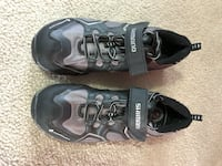 Bicycle clip shoes, easy to walk around in 26 km