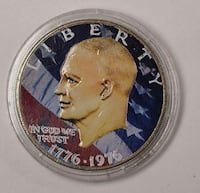 1976 Eisenhower Bicentennial Colorized Dollar Chicago, 60644