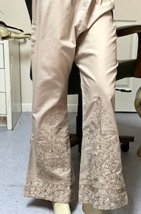 Embroidered pearl work pant