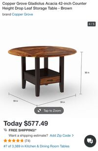Drop leaf table & matching chairs Arlington, 22201