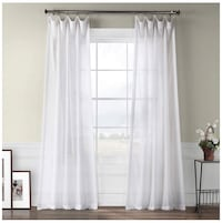 3 Black curtain rods and 6 sheer white curtains, extra long!! Arlington, 22202