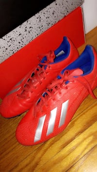 Adidas Red Soccer Boots