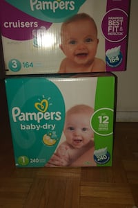 Two boxes of diapers