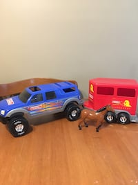 Tonka large rodeo truck with horse and trailer