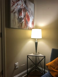 Table lamp with extra outlet