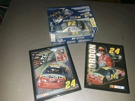 Jeff Gordon 2 pictures and Revell model $20